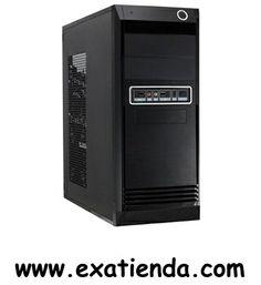 """Ya disponible Caja semitorre 7851 eco negra   (por sólo 37.89 € IVA incluído):   - Chasis: Interior en color negro mate. - Ventiladores trasero: (8/9cm) - Ventiladores Laterales: (8/9/12 cm) opcionales. - Dimensiones:400 x 180 x 425 mm - Fuente alimentación: PSU Formato ATX 500w 12 cm - Placas soportadas: ATX, MATX, ITX - Peso: 5,0 kg - Bahias 5,25"""" Int/Ext: 2/2 - Bahías 3,25"""" Int/Ext: 6/1 - Conectores USB + Audio + Micrófono Frontales - Contornos chapa: Redondeados"""