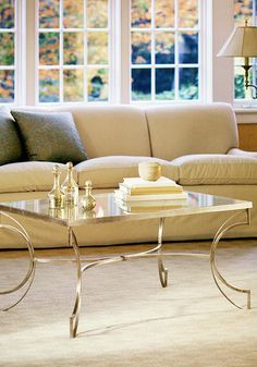coffee tables - living room with hand-wrought iron table with antique Venetian silver-leaf finish