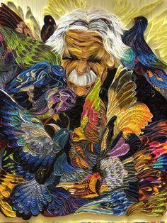 Paper art painting