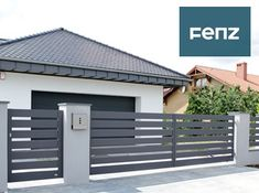 House Fence Design, Modern Fence Design, Window Grill Design, Door Gate Design, Backyard Privacy, Backyard Fences, Fenced In Yard, Modern Exterior, Exterior Design