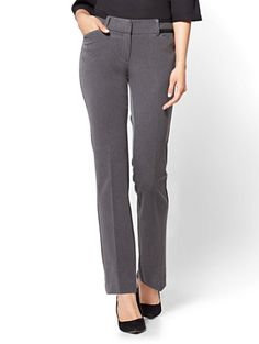 ab4ad458fee Shop 7th Avenue Pant - Mid Rise - Straight Leg - Grey. Find your perfect