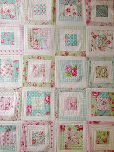 quilt as you go using tanya whelan fabrics by Quilting in the RainQuilting Tutorials and Fabric Creations Quilting Tutorials, Quilting Projects, Quilting Designs, Quilting Ideas, Rag Quilt, Quilt Blocks, Shabby Chic Quilts, Shabby Chic Quilt Patterns, Patchwork Quilt Patterns