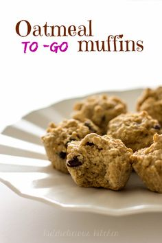 These oatmeal to-go muffins don't have any added sugar. They are soft and moist – almost like a dessert. And they help you feel full and satisfied throughout your morning. #breakfasttogo #oatmealmuffins #gluten-free #noaddedsugar #healthy #foodforkids