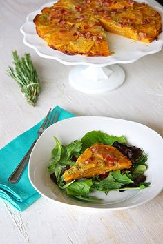 Rosemary & Havarti Sweet Potato Torte | TheNoshery.com