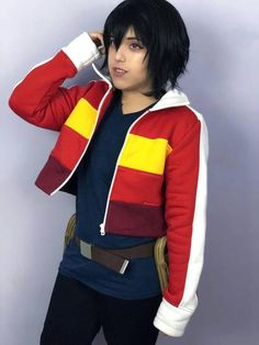Keith Red Jacket By Wolvenstyle. Cosplay Edition. Handmade from Europe dMmSocK