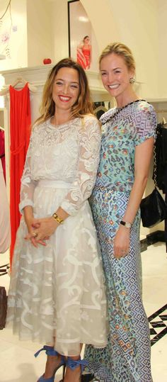 0c7e34b0fedd Alice Temperley and Madeleine Macey at the Temperley London store opening  in Qatar
