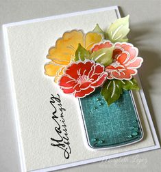 Marybeth's time for paper: Blooms and a Bug!