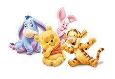 Bebes disney para imprimir, winnie the pooh y todos sus amigos, mickey y minnie, donald y daisy, pluto los personajes disney de bebes para ...