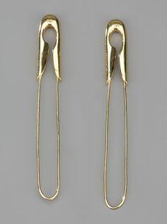 Tom Binns - large safety pin earrings