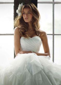 a peek at my wedding dress. Yes I chose one. shh.. don't tell anyone. <3