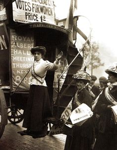 Barbara Ayrton (L), whose mother was the distinguished physicist, mathematician and Suffragette Hertha Ayrton. As Barbara Gould, Miss Ayrton would later become MP for Hendon North in Labour's landside victory of 1945 - Britain -1908