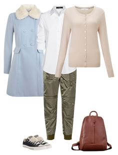 """Lena - Wrong Test Trouses with outwear"" by elena-modina ❤ liked on Polyvore featuring Miss Selfridge, 3.1 Phillip Lim, Converse, Steffen Schraut and John Lewis"