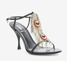 Fendi Black Sandal