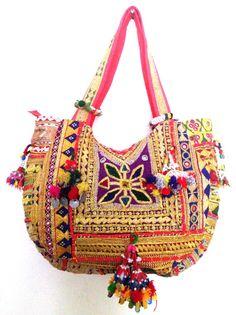 Vintage banjara bag gypsy tribal ethnic tote by ROYALEJAYPORE, $99.00