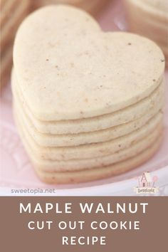 Recipe for Maple Walnut Roll Out Sugar Cookies Roll Out Sugar Cookies, Cut Out Cookie Recipe, Basic Cookies, Butter Pecan Cookies, Fancy Cookies, Cut Out Cookies, Iced Cookies, Sugar Cookies Recipe, Cookie Desserts