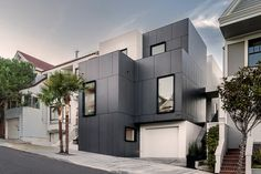 3-Story House by Edmonds + Lee Architects - Cube Residence. 4318 26th street San Francisco, CA. EQUITONE facade materials. equitone.com