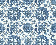 A.S. Creation Vinyltapete FARO 4 - floral - Küche - blau-weiß - 10 Meter