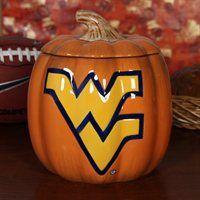 West Virginia Mountaineers Ceramic Pumpkin Jar