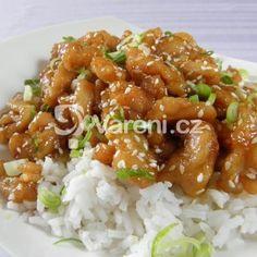 Fotografie receptu: Pikantní kuřecí nudličky se sezamem Asian Recipes, Ethnic Recipes, Kung Pao Chicken, Meat, Asia, Beef, Asian Food Recipes