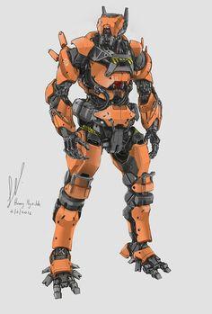 Robot concept art cyberpunk drawings New Ideas Robot Concept Art, Armor Concept, Character Concept, Character Art, Character Design, Art Cyberpunk, Robots Characters, Arte Robot, Cool Robots