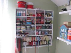 Love this ribbon storage