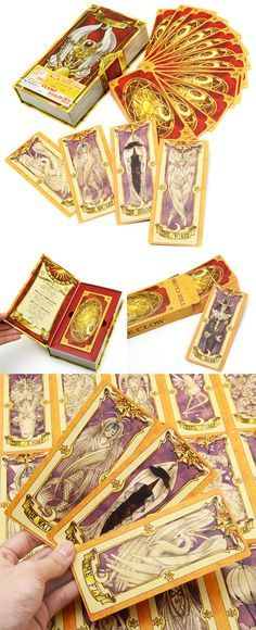 Bring all your favorite magical cards to the real world with these highly detailed set of Clow Cards! This set reproduces in full size all 52 cards featured in the epic anime, making them a fantastic addition to your Cardcaptor Sakura collection! #cardcaptorsakura