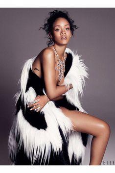 Séance photo de Rihanna : Sexy & glamour pour ELLE