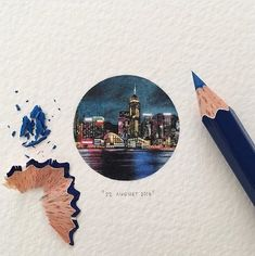 Hong Kong's Victoria Harbour. Tiny Miniature Mixed Media Animals and Architecture. By Lorraine Loots.