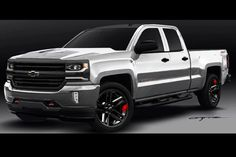 Chevrolet shows 2016 Silverado, Colorado Red Line pickup concepts ahead of SEMA show in Las Vegas.
