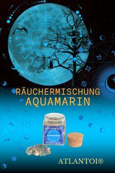 Der Aquamarin mit seiner sanften blauen Farbe symbolisiert Glück, Reinheit und allumfassende Liebe, stärkt Weitblick, Ausdauer und Motivation und sorgt für innere Balance und Gelassenheit. Die würzig-balsamische Räucherung aus Weihrauch, Dammar, Kalmus,... #magisch, #Magie, #Räucherung, #Räuchermischung, #Aquamarin, #Edelstein-Energie, #Aquamarin-Räucherung, #Balance, #Motivation, #Weihrauch Atlantis, Movie Posters, Motivation, Incense, Spiritual, Rhinestones, Film Poster, Billboard, Film Posters