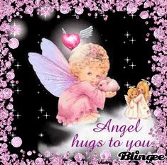 Angel hugs to you Hugs And Kisses Images, Hug Images, Angel Images, Hug Quotes, Angel Quotes, Snoopy Quotes, Happy Birthday Celebration, Happy Birthday Messages, Birthday Wishes