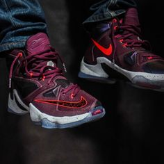 info for 9c6c6 7b3fa Nike LeBron 13 Berry On-Foot 807219-500 (1) Wholesale Nike Shoes