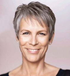 Jamie Lee Curtis is a perfect example of a Cool Soft with her ashy gray hair and hazel green eyes. https://budtoblossombeauty.wordpress.com/cool-soft/