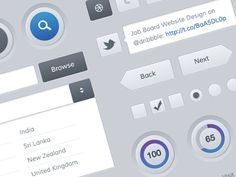Dribbble - Freebies - Mobile and Web UI Kit by Sunil Joshi
