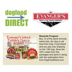 Dr. Fred Evanger began making pet food for his champion Great Danes in the 1930s. 80 years later, Evanger's continues to be the choice of top handlers, breeders, and enthusiasts. Our commitment to using the highest quality wholesome ingredients continues to make us the natural choice of conscientious pet owners. Check out our Frequent Buyer Rewards on Evanger's. Pet Food, 1930s, Dog Food Recipes, Your Pet, Dog Cat, Champion, Natural, Check, Top