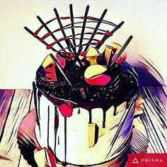 Turn your cakes into cake art with the prisma app!