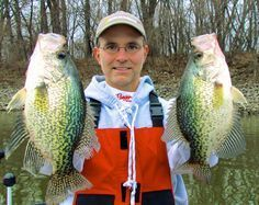 How to catch more Crappie when fishing in early spring cold water conditions - Dr. Jason Halfen shares his fishing tips. Crappie Fishing Tips, Fishing 101, Gone Fishing, Best Fishing, Trout Fishing, Saltwater Fishing, Kayak Fishing, Fishing Stuff, Crappie Rigs