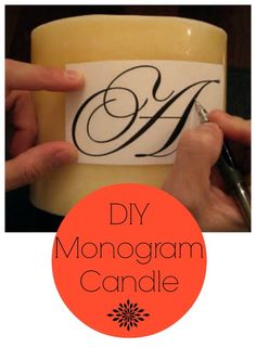 monogram candle-- fun and easy gifts