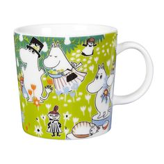 The adorable Tove 100 moomin mug 2014 from Finnish Arabia is a tribute to the famous author and illustrator Tove Jansson. In 2014 the the moomin charachters mother would have turned 100 years and the jubilee mug has its inspiration from Tove Janssons book Moomin Shop, Moomin Mugs, Tove Jansson, Centenario, My Collection, Finland, The Book, Anniversary, Pottery