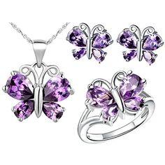 Virgin Shine Platinum Plated Rhinestone Buttefly Jewelry Sets Purple VIRGIN SHINE http://www.amazon.com/dp/B00L149R3K/ref=cm_sw_r_pi_dp_heptub1WZBR6B