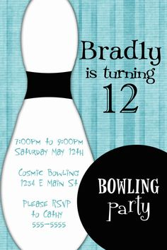 bowling party invites