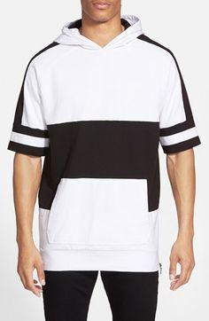 ZANEROBE 'MVP Lineback' Short Sleeve Cotton Hoodie