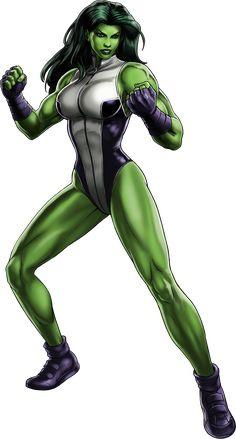 Marvel Super Hero Squad VERY RARE Green SHE-HULK w// I-Beam from Hulk Wave 2