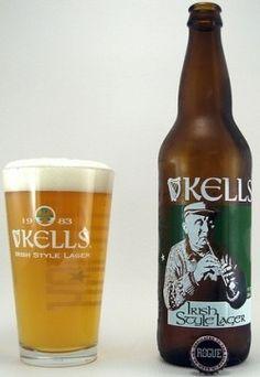 Cerveja Rogue Kells Irish Style Lager, estilo Premium American Lager, produzida por Rogue Ales Brewery, Estados Unidos. 5.2% ABV de álcool.