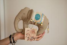 Elephant soft toy / handmade / cozy / slon / love