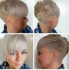 Super blonde pixie
