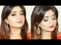 Indian Festive Makeup : Gold Smoky Eyes Tutorial | Colors at Lifestyle | corallista - YouTube
