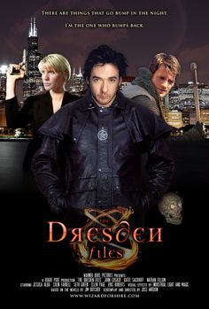 Poster for an imaginary Dresden Files movie, by haloz3ro. I adore Nathan Fillion, but I don't think he fits the part.  The others? Yeah.