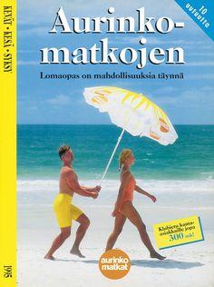 #Aurinkomatkat lomaopas kevät, kesä, syksy 1995 #retro Wind Turbine, 1980s, Retro, Movies, Movie Posters, Film Poster, Films, Popcorn Posters, Film Books