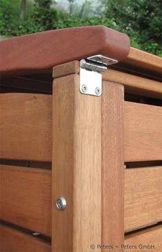 Astfreies Hartholz, hochwertige Verarbeitung und Beschläge aus rostfreiem Edelstahl - das kennzeichnet die Mülltonnenboxen CLASSIC von Peters